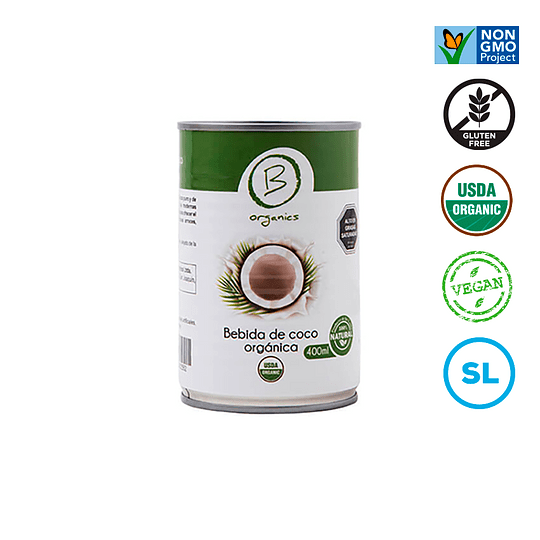 Leche coco organica 400ml