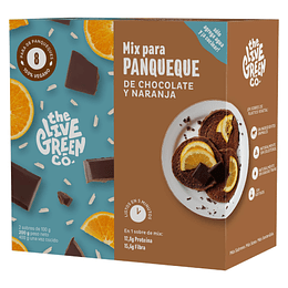 Pancake mix - chocolate y naranja 200g