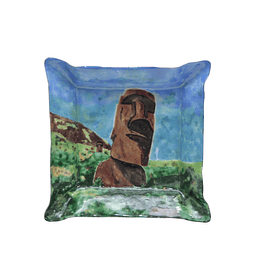 Cenicero de Cobre Esmaltado Moai