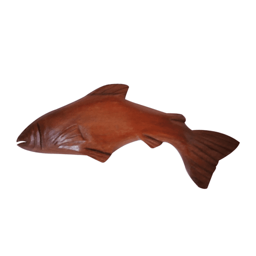 Pez de madera imán