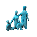 Familia Esmaltada 4 Integrantes
