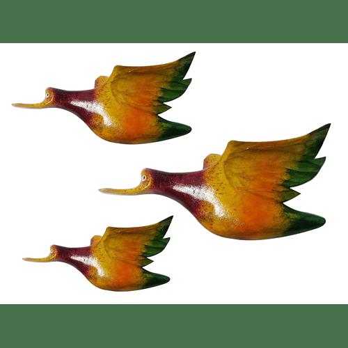 Familia patos decorativos