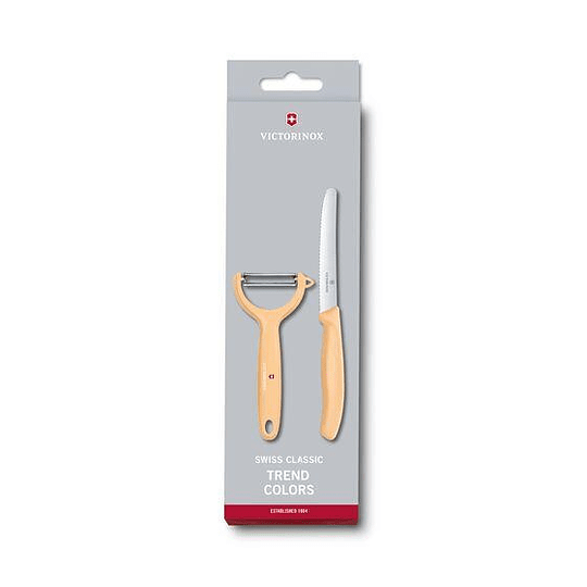Juego de cuchillo y pelador - Swiss Classic