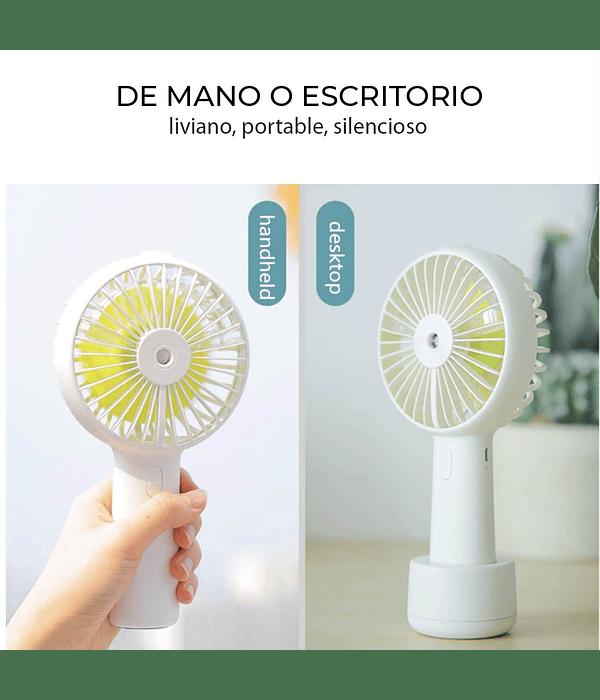 Mini ventilador eléctrico recargable con neblina para escritorio
