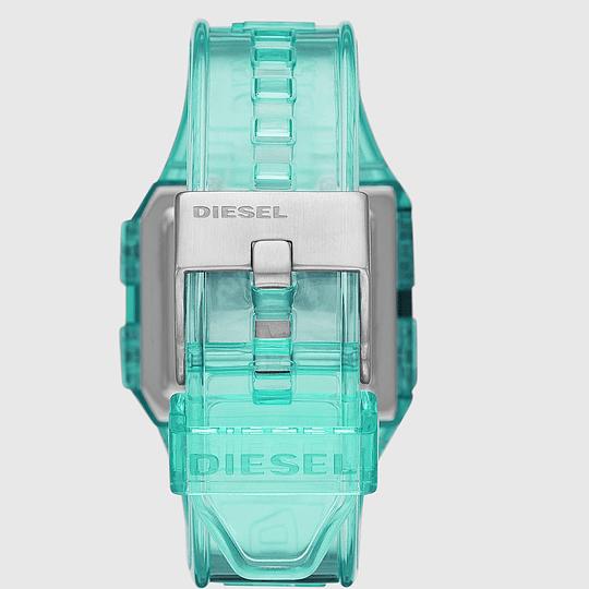 Reloj Diesel chopped translucido menta