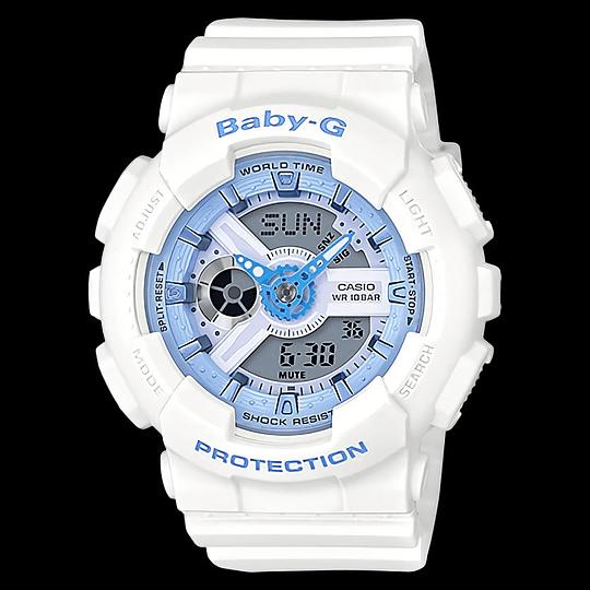 Reloj mujer Casio Baby G blanco