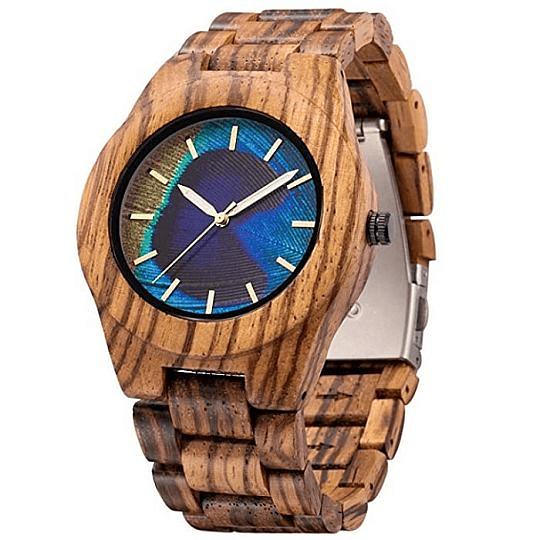 Reloj Madera Multicolor Mujuze
