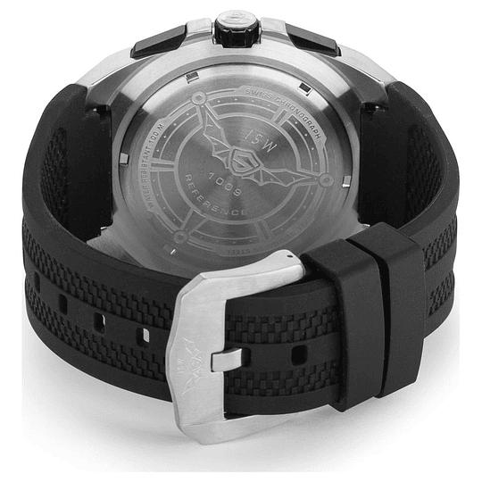Reloj Cronógrafo Isw Swiss silver black
