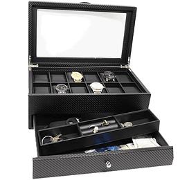 Estuche de lujo 12 relojes organizador gafas y otros