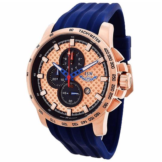 Reloj Swiss Isw Cronógrafo Blue gold