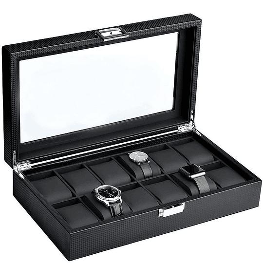 Caja de lujo Mantello Carbon fiber 12 relojes