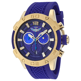 Reloj deportivo azul dorado suizo-Isw