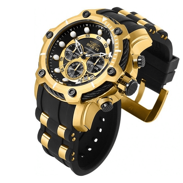RELOJ INVICTA BOLT BLACK GOLD