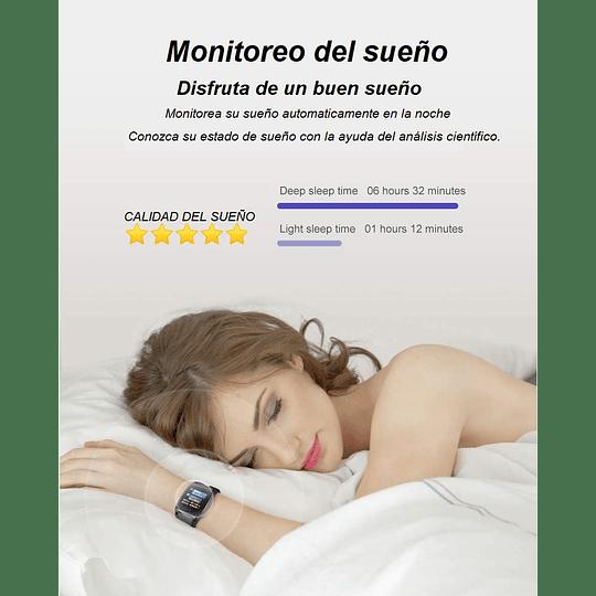 RELOJ SMARTWATCH CON TENSIOMETRO, MONITOR DE CALORIAS, SUEÑO,PASOS