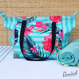 Bolso Playa Tropical Turquesa