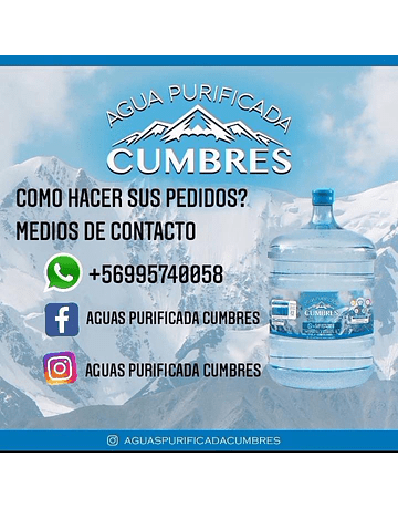 Agua Purificada Cumbres