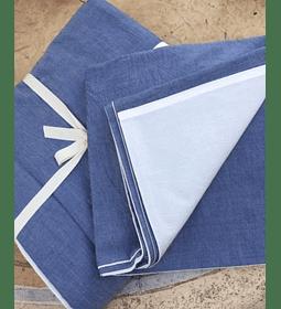 Funda Algodón Stonewash Azul/Blanco 170x240