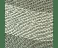 Cojín de Lino Crudo/Gris entreverado Verde petróleo 50x50