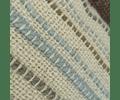 Cojín de Lana Crudo líneas Celeste y Tierra 60x40