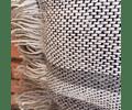Cojín de Lino Jaspeado Crudo/Marengo líneas grises 50x50