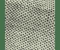 Cojín de Lino Entreverado Crudo/Marengo franja Verde petróleo 50x50