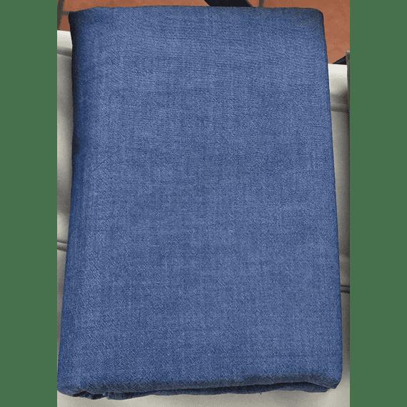Set 2 Fundas Algodón Stonewash Azul
