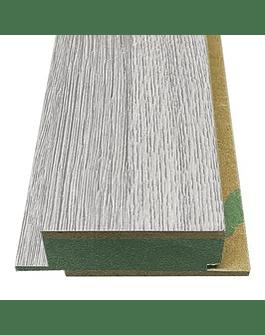 Tabla Revestimiento Muro,machihembrado 9r Diseños Uv 30x80mm Color Gris Ceniza