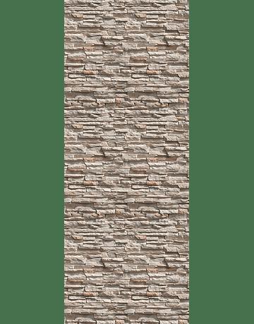 Tablero de revestimiento MDF sellado UV 80 x 240 cm. Diseño Piedra