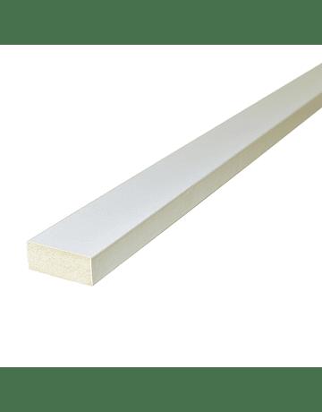 Moldura Recta Blanca 15x40x2440mm