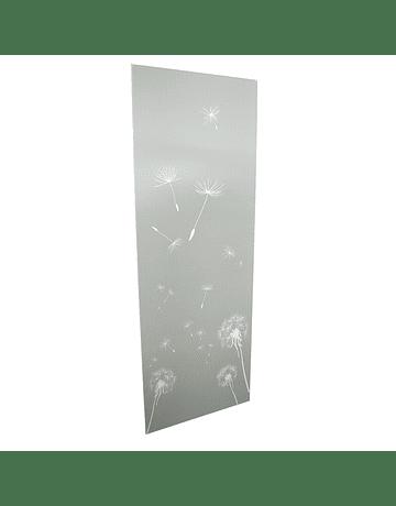 Tablero de revestimiento MDF sellado UV 81 x 244 cm. Diseño Flor de León