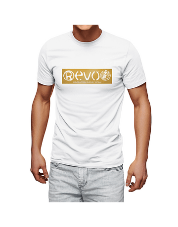 T-Shirt White Golden