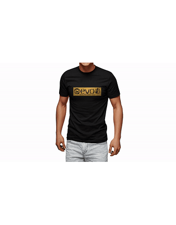 T-Shirt Black Golden