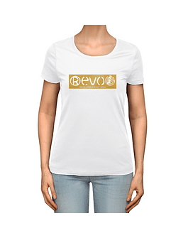 T-Shirt White Golden Women