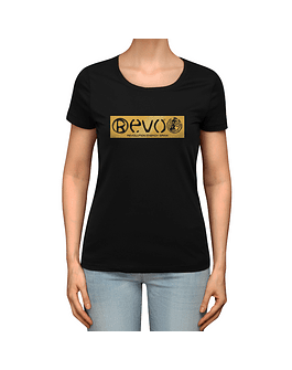 T-Shirt Black Golden Women