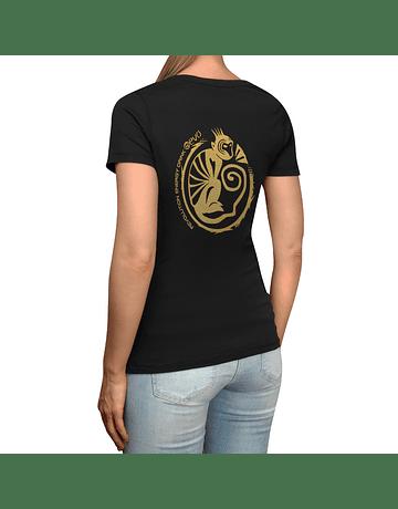 T-Shirt Black Golden Women