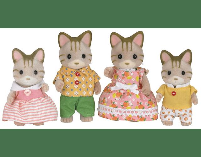 Familia Gato de Rayas