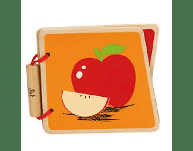 Libro de madera fruta