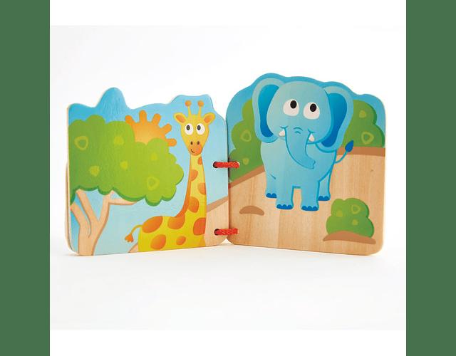 Libro de madera animales salvajes