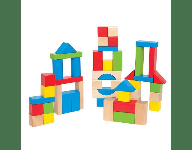 Bloques de madera - 50 piezas