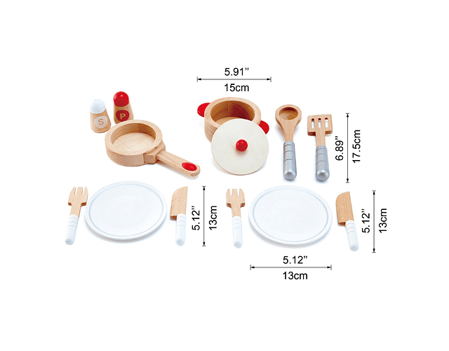 Set de cocina ollas madera