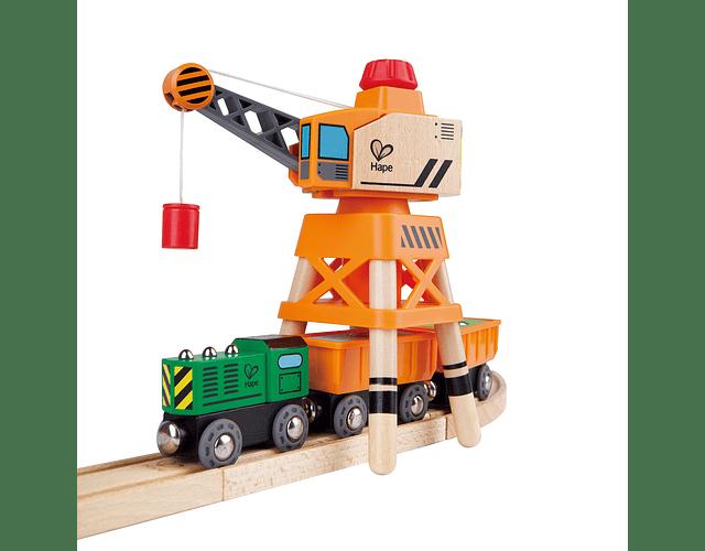 Grúa accesorio pista trenes