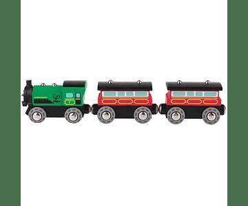 Tren de pasajeros a vapor
