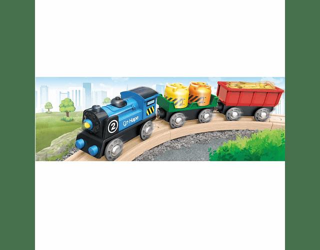 Tren de mercancías a pilas
