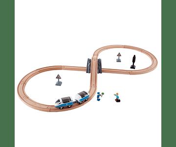 Pista de tren con forma de 8