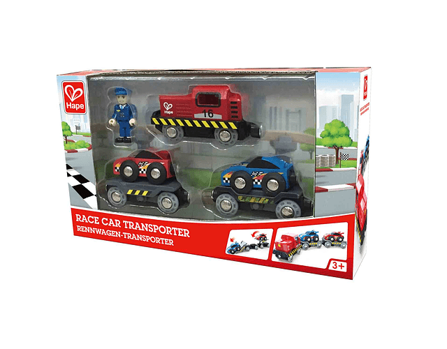 Tren de coches de carreras