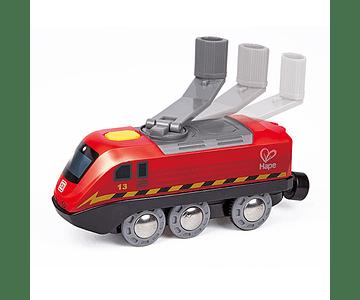 Tren accionado por manivela