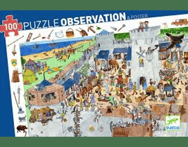 Puzzle Observación Castillo Fortificado 100 piezas