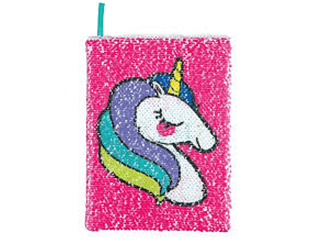 Diario de lentejuelas mágicas unicornio