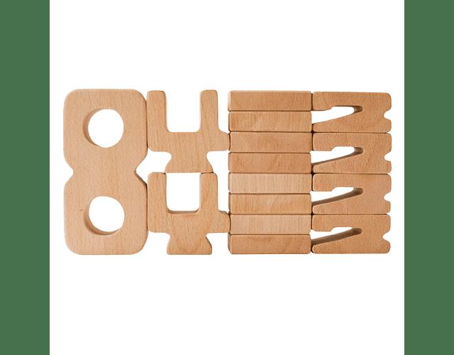 Woodis números Set 30 piezas