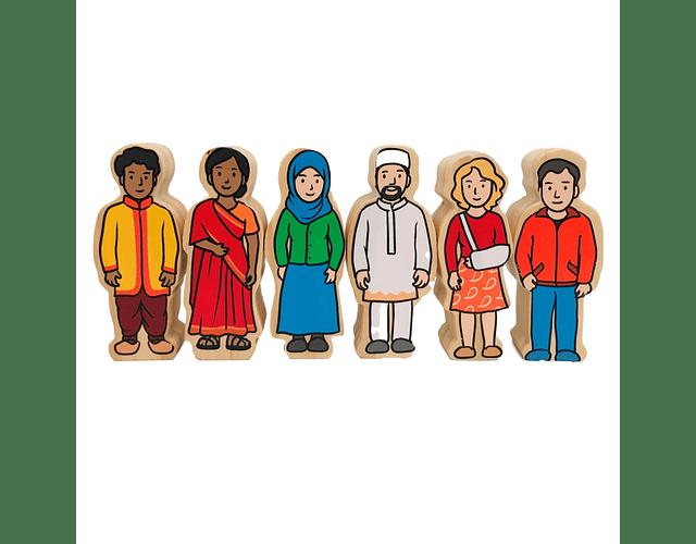 Woodis Personas del mundo ( 42 piezas )